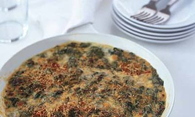 Gouda Creamed Spinach with Pancetta