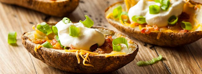 Cheddar Cheese Stuffed Potatoes