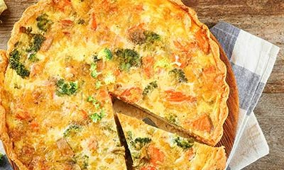 Honey Sriracha Gouda and Veggie Quiche